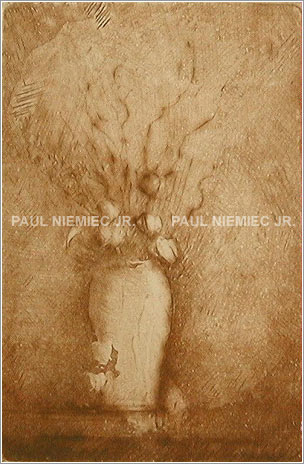 Chinese Lanterns etchings and dry points by Paul Niemiec Jr. Running Wind Studio