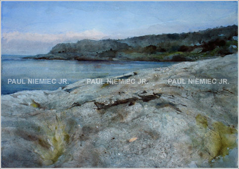 Strewn About, limited edition print by Paul Niemiec Jr. Running Wind Studio